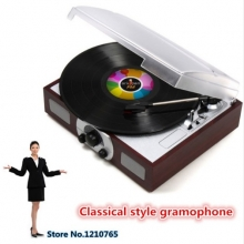 Classical LP player Stereo speaker/3 speed electric turntable