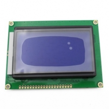 LCD12864 blue LCD with Chinese font backlight serial / parallel port