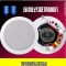 4 inch Ceiling speaker 85mm*170mm white color fixed resistance
